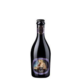 """Birra artigianale JUNO - BLANCHE con grano antico """"Perciasacchi"""" e scorze d'arancia di Sicilia - <b>12 bottiglie - 37,5 cl </b>- BIRRIFICIO DELL'ETNA-LINEA PREMIUM"""