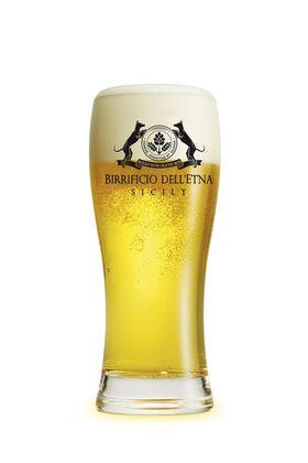 Birra artigianale HERACLES - BLONDE ALE con Pistacchio Verde di Bronte D.O.P. - <b>2 bottiglie in confezione regalo - 75 cl  + set 6 bicchieri BAVARIA 40 CL </b> - BIRRIFICIO DELL'ETNA-LINEA PREMIUM