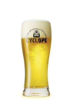 "SET 6 BICCHIERI ""BAVARIA"" - Linea Cyclope - Logo nero - 20 CL - BIRRIFICIO DELL'ETNA-GADGET"