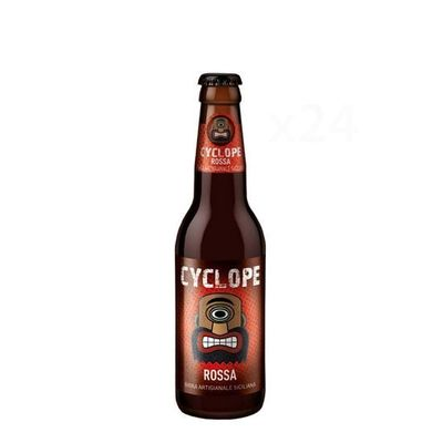 Birra artigianale CYCLOPE ROSSA - BELGIAN DUBBEL - <b>24 bottiglie - 33 cl</b> - BIRRIFICIO DELL'ETNA-LINEA CYCLOPE