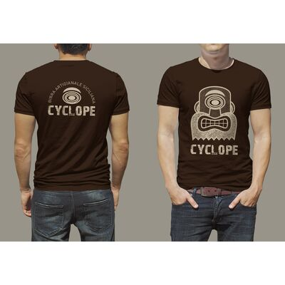 T-shirt logo Cyclope - BIRRIFICIO DELL'ETNA-GADGET