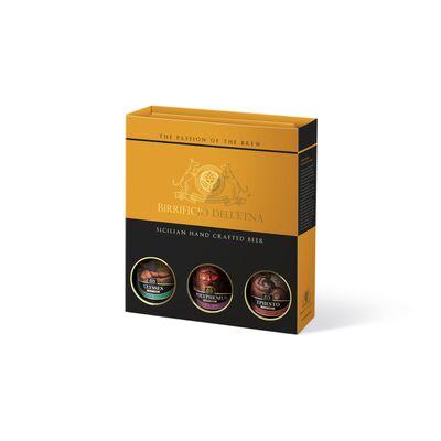 Birra artigianale - <b> 2 box tris da 3 bottiglie in confezione regalo - 75 cl </b>  - BIRRIFICIO DELL'ETNA-LINEA PREMIUM